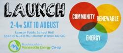 BMRenew Launch: 2-4pm Sat 10 Aug at Lawson Public School Hall
