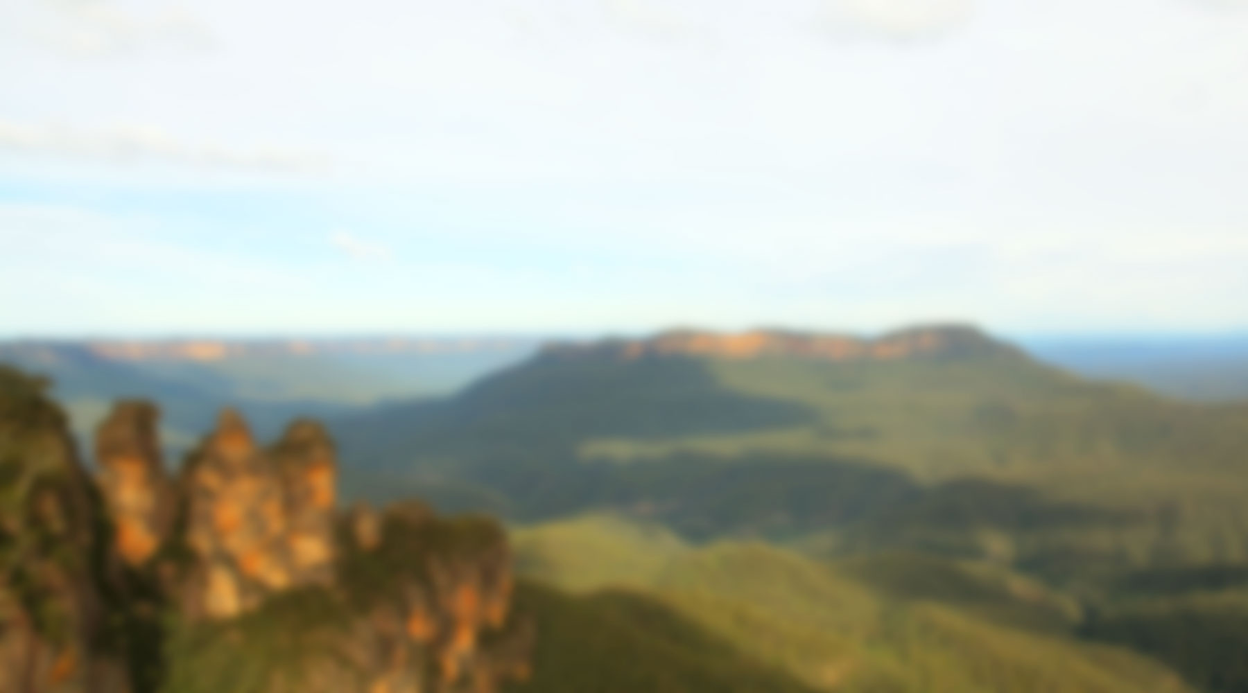 Background Blur: Three Sisters, Blue Mountains, Australia