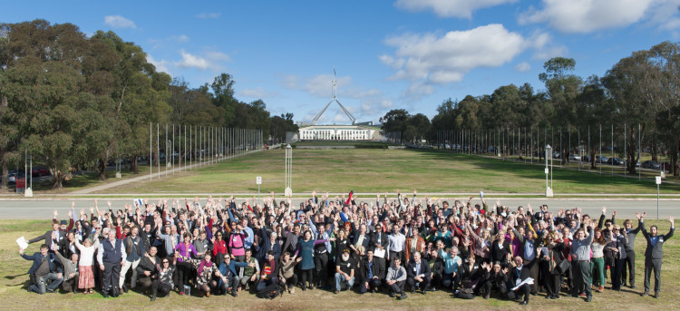Participants at the Community Energy Congress 2014, Parliament House, Canberra