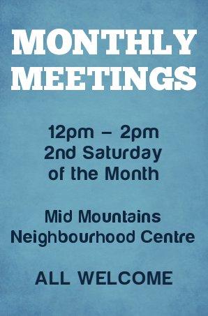 Monthly Meetings Promo 2015